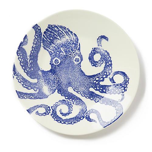 Costiera Octopus Dinner Plate, Blue