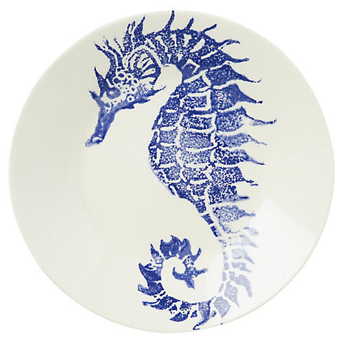 Costiera Seahorse Dinner Plate, Blue