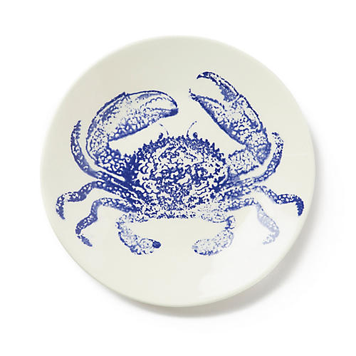 Costiera Crab Salad Plate, Blue
