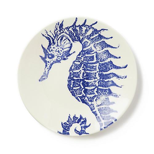 Costiera Seahorse Salad Plate, Blue