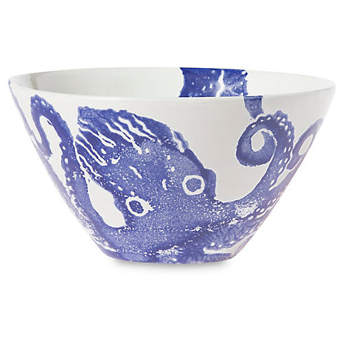 Costiera Octopus Cereal Bowl, Blue
