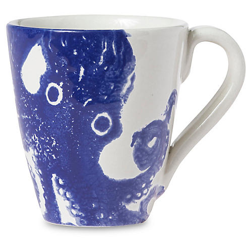 Costiera Octopus Mug, Blue