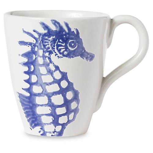 Costiera Seahorse Mug, Blue
