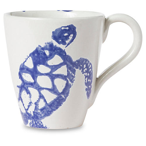 Costiera Turtle Mug, Blue