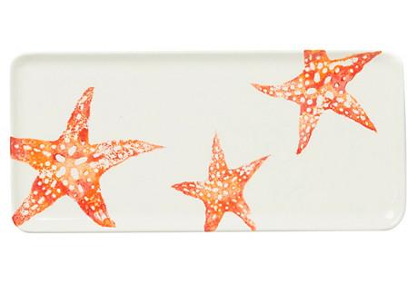 Costiera Rectangular Starfish Tray, White
