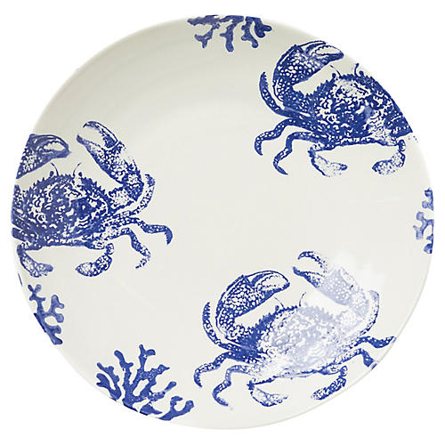 Costiera Crab Serving Bowl, White