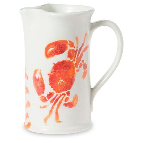 Costiera Crab Pitcher, White