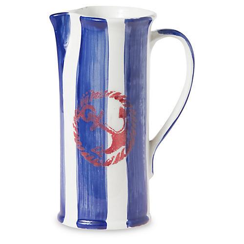 Costiera Striped Pitcher, Blue