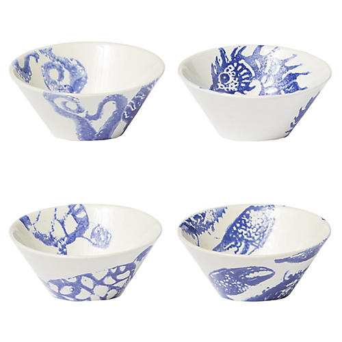 Asst. of 4 Costiera Small Bowls, Blue