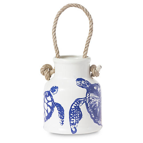 Costiera Turtle Utensil Holder, White