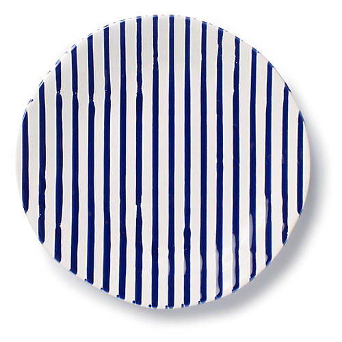 Net & Stripe Stripe Salad Plate, Blue