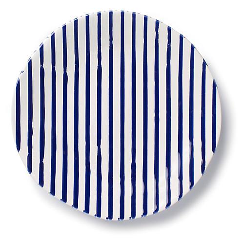 Net & Stripe Stripe Salad Plate, Blue