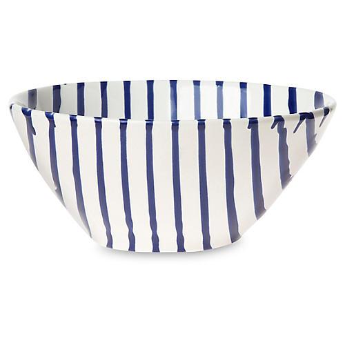 Net & Stripe Stripe Cereal Bowl, White