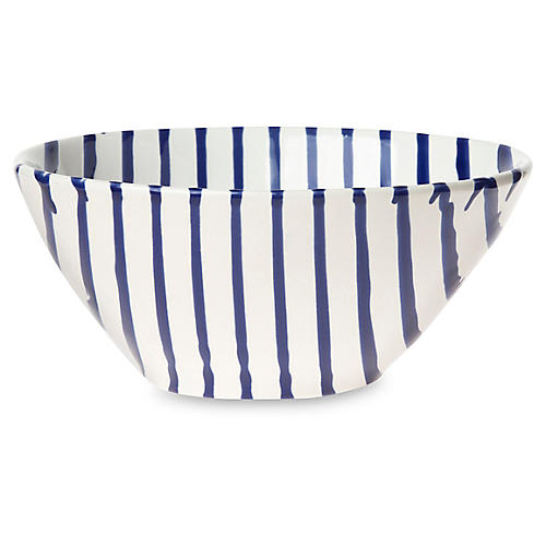 Net & Stripe Stripe Cereal Bowl, White