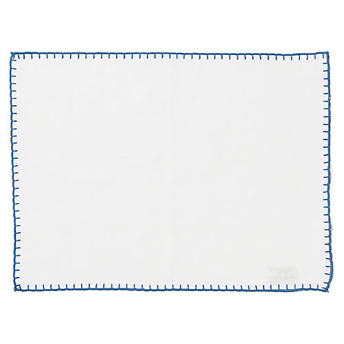 S/4 Whipstitch Place Mat, White