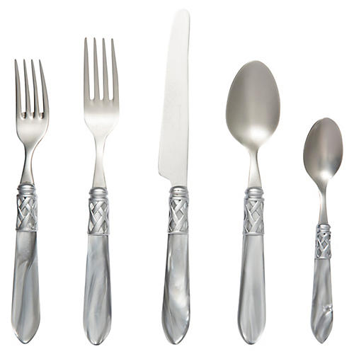 5-Pc Aladdin Brilliant Place Setting, Silver