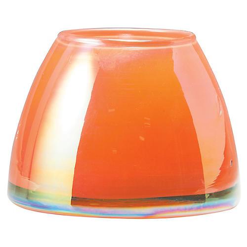Italian Glass Votive, Orange
