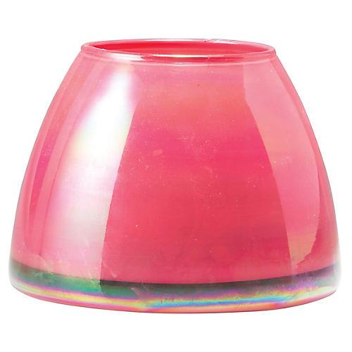 Italian Glass Votive, Pink