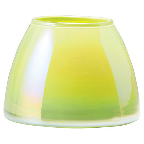 Italian Glass Votive, Light Green