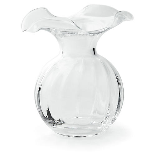 Hibiscus Fluted Vase, Clear