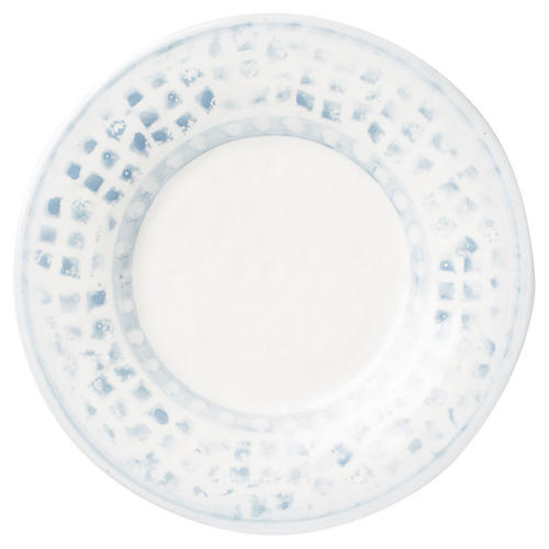 Mosaico Salad Plate, Blue/White