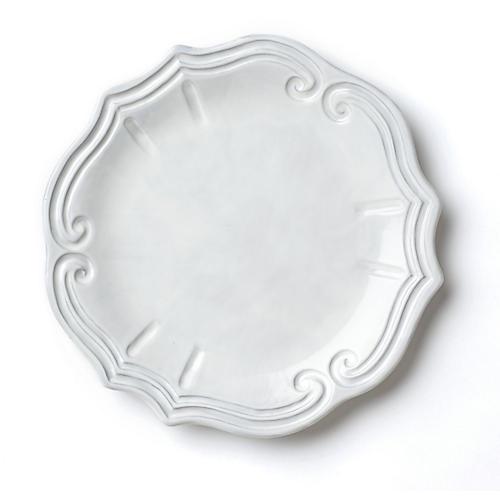 Incanto Baroque European Dinner Plate, White