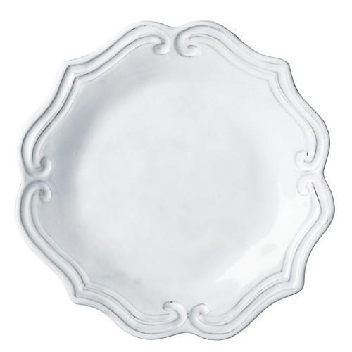 Incanto Baroque Salad Plate, White