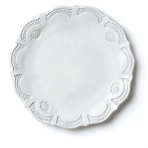Incanto Lace European Dinner Plate, White