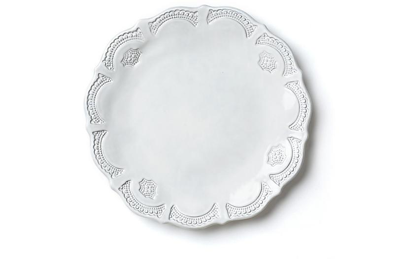Incanto Lace European Dinner Plate, White
