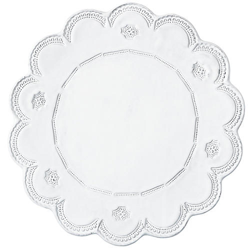 Incanto Lace Charger, White