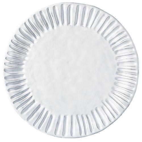 Incanto Stripe Charger, White