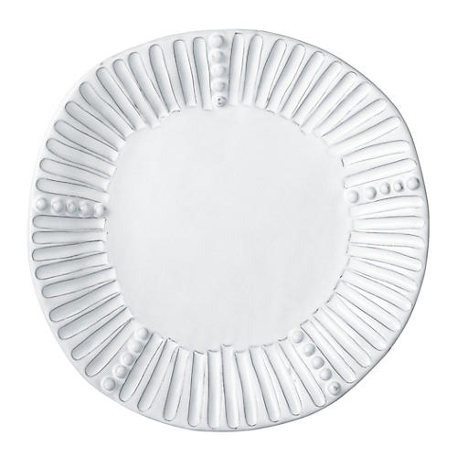 Incanto Stripe Salad Plate, White