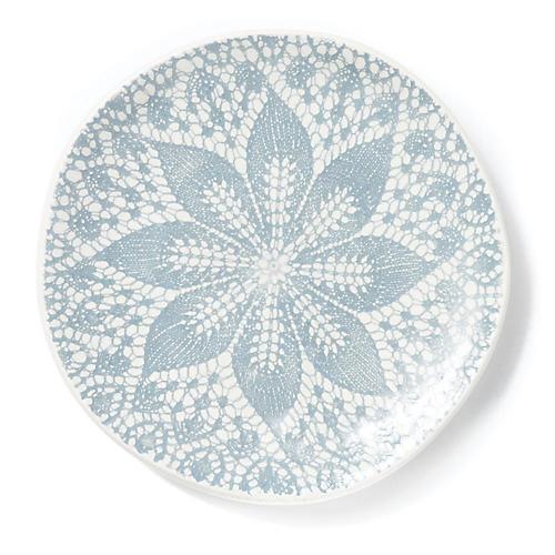 S/4 Lace Dessert Plates, Gray