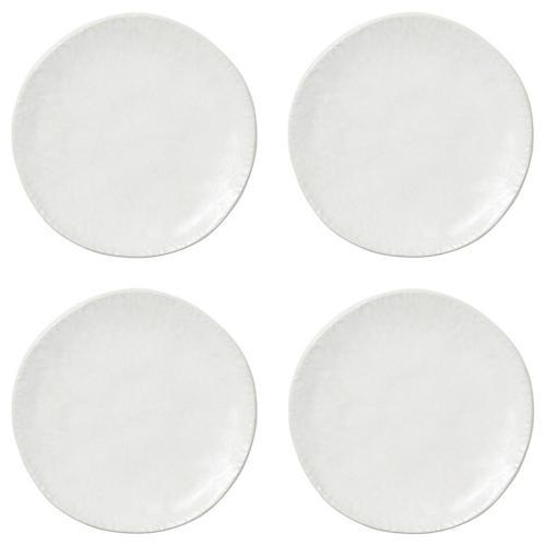 S/4 Lace Dessert Plates, White