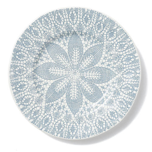 Lace Dinner Plate, Gray