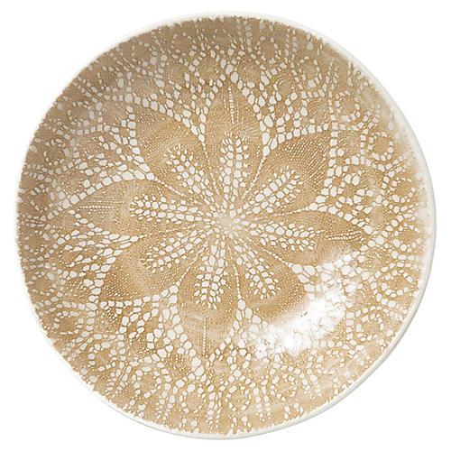 Lace Pasta Bowl, Natural