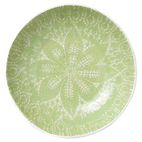 Lace Pasta Bowl, Pistachio