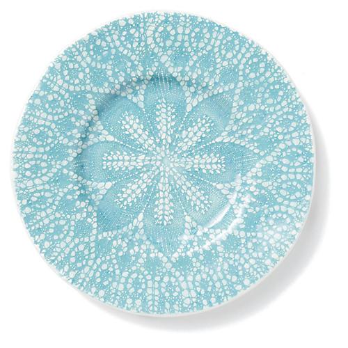 Lace Salad Plate, Aqua