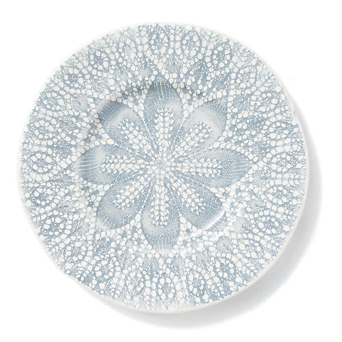 Lace Salad Plate, Gray