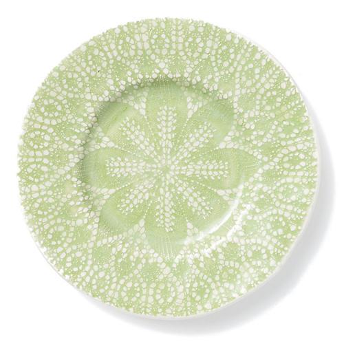 Lace Salad Plate, Pistachio
