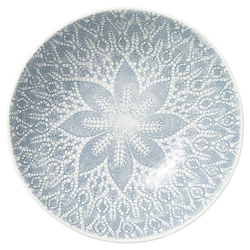 Lace Medium Serving Bowl, Gray