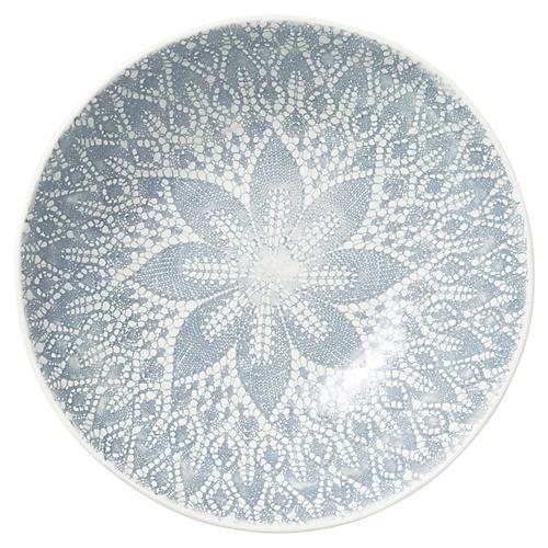 Lace Medium Serving Bowl, Gray