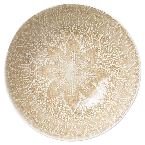 Lace Medium Serving Bowl, Natural