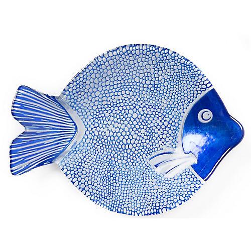 Marea Medium Serving Plate, Misc Blue