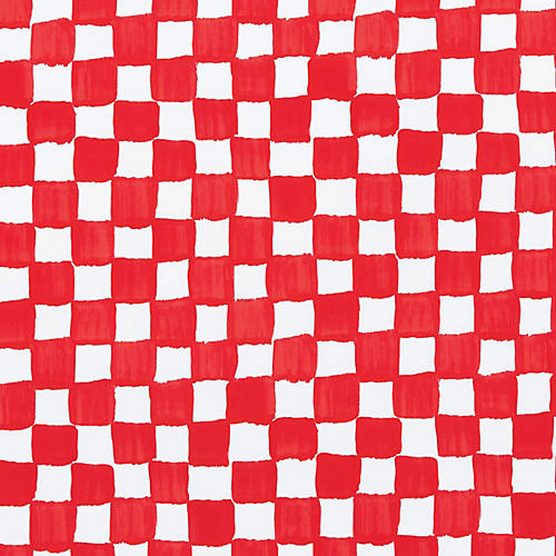 Red & White Check Gift Wrap