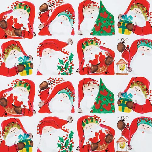 Santa Scene Gift Wrap