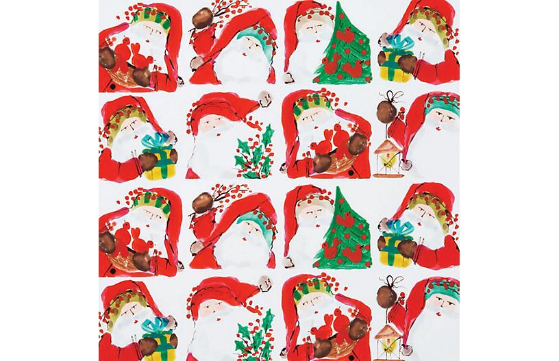 Santa Scene Gift Wrap - VIETRI