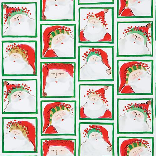 Santa Face Gift Wrap