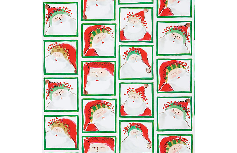 Santa Face Gift Wrap - VIETRI