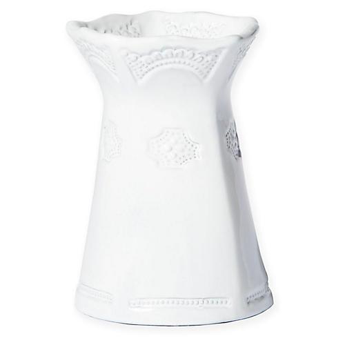 "6"" Incanto Lace Vase, White"